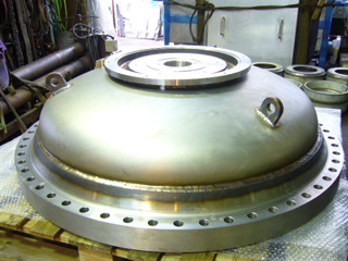 機械加工実績 タンク鏡板