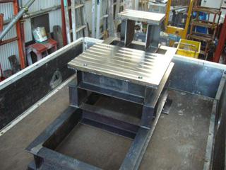 機械加工実績 装置架台