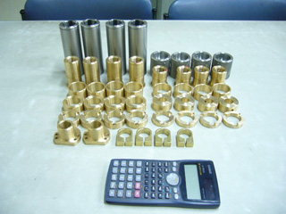 機械加工実績 小物部品1(SUS 銅合金)