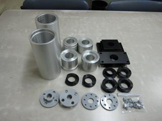 機械加工実績 小物部品2(アルミ+アルマイト処理 樹脂)